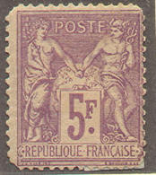 # France 96, Mint, Og. Violet (fr096-18, Michel 76, [16-DET - 1876-1898 Sage (Type II)