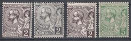 ** MONACO 1885 / 14  - Y.T. N° 3 X12 / 22   - 4 TP NEUFS* (lot172) - Monaco