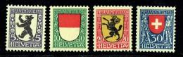 1924  Pro Juventute Ecussons Rhodes Intérieures, Soleure, Schaffhouse, Suisse   **  MNH - Pro Juventute