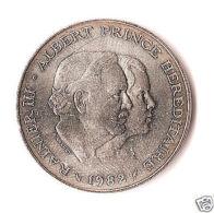 MONACO :  100 Francs Argent RAINIER III, 1982,seulementt 30 000 Exemplaires ! - Altri – Europa