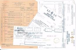 FACTURE + LDC + TARIF BISCUITS LEFEVRE-UTILE LU 1956 NANTES 44 - Food
