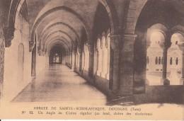 Cp , 81 , DOURGNE , Abbaye De Sainte-Scholastique , Un Angle Du Cloître Régulier (au Fond, Cloître Des Récréations) - Dourgne
