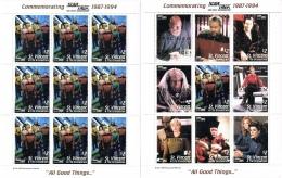 BL 54 ST-VINCENT   XX  YVERT NRS 2204/2212  IN KLEIN BOGEN ZIE SCAN STAR TREK - Stamps