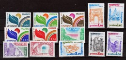 France Service  50 52 , 56 57 , 60 62 68 72 1/4 De Cote UNESCO Neuf ** TB MNH Sin Charnela Cote 13.1 - Service