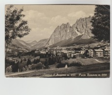 CPSM CORTINA D'AMPEZZO (Italie-Vénétie) - 1224 M Punta Fiammes 2150 M - Italia