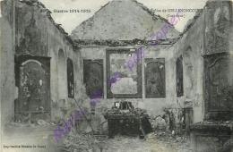 54. Eglise De GELLENONCOURT . Intérieur . GUERRE 1914-19105 . - France