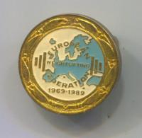EUROPEAN WEIGHTLIFTING FEDERATION - Vintage Pin Badge, Enamel - Weightlifting
