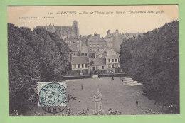 AVRANCHES : Vue Sur L'Eglise Notre Dame Et L'Etablissement Saint Joseph. 2 Scans. Edition Lechaplais