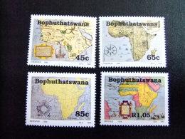 AFRIQUE DU SUD BOPHUTHATSWANA 1993 Cartes Ancienennes Antiguos Mapas Yvert Nº 302 / 305 ** MNH - Bofutatsuana