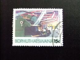 AFRIQUE DU SUD BOPHUTHATSWANA 1985 Fabrication De Sacs En Plastique Yvert Nº 158 º FU - Bofutatsuana