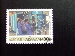 AFRIQUE DU SUD BOPHUTHATSWANA 1985 Peinture De Lits Métalliques Yvert Nº 161 º FU - Bofutatsuana