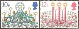 Grande Bretagne - 1980 - Arbre, Décorations Et Bougies - YT 959 Et 960 Oblitérés - 1952-.... (Elizabeth II)
