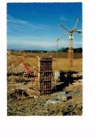 21 - FAUVERNEY  Travaux Autoroute A31 Mulhouse Bordeaux /Til-Chatel Gevrey  Construction Pont R.N. 5 Camion Grue - France