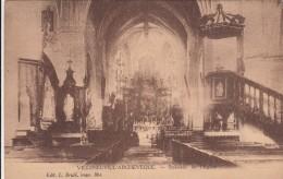 Cp , 89 , VILLENEUVE-l'ARCHEVÊQUE , Intérieur De L'Église - Villeneuve-l'Archevêque