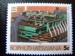 AFRIQUE DU SUD BOPHUTHATSWANA 1985 Traitement Des Peaux De Moutons Yvert Nº 151 ** MNH - Bofutatsuana