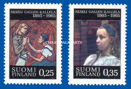 FINLAND 1965  ARTIST GALLEN-KALLELA PAINTINGS  U.M.  FACIT 602-603 - Finnland