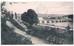 CPA : NAMUR  Panorama - Le Pont De Jambes Et Le Square De La Plante Vus De La Citadelle (avant Construction Casino) Tram - Namur