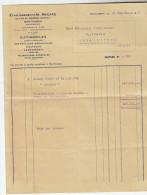 Etablissements Macard, Montauban, à Mr. Dupuy, Lmagistère, 82. Facture Pour Vérification Camion Dodge. 1947. - Camions