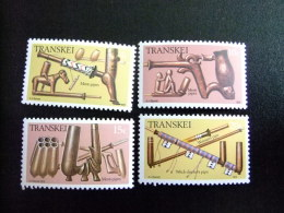 AFRIQUE DU SUD TRANSKEI 1978 Pipes Yvert Nº 33 / 36 ** MNH - Transkei