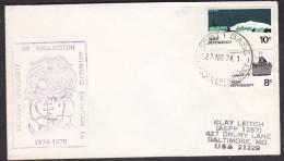 Ross Dependency 1974 Scott Base Ca Victoria University Of Wellington Cover  (29191) - Brieven En Documenten