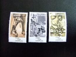 AFRIQUE DU SUD TRANSKEI 1977 Aide Aux Infirmes Yvert Nº 45 / 47 ** MNH - Transkei