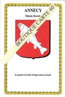 74-ANNECY - BLASON- ECUSSON- HERADIQUE - Annecy