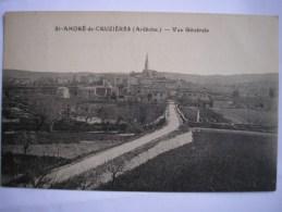 07 - CPA - St-ANDRE-de-CRUZIERES - Vue Générale - Belle Carte - Other Municipalities