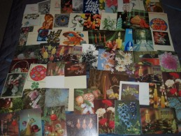 LARGE LOT ESTONIA Soviet-era GREETING CARDS 1960-1989 - 520 DIFFERENT CARDS - Postcards