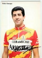 Giuseppe PETITO , Autographe Manuscrit, Dédicace. 2 Scans.  Cyclisme. Ariostea - Ciclismo