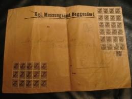 DEUTSCHLAND:GROSSBRIEF MIT 90  DIENSTMARKEN NR 80 - Dienstpost
