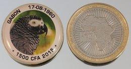Gabon 1500 CFA 2015 Bimetal Couleurs Animal - Gabon