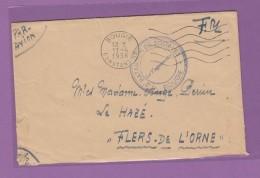 ALGERIE:LETTRE F.M. DE BOUGIE(CONSTANTINE),AVEC CACHET 3e BATAILLON DE ZOUAVES. - Argelia (1924-1962)