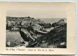 CPSM 85 ILE D YEU ENTREE DU PORT DE LA MEULE 1961   Grand Format 15 X 10,5 - Ile D'Yeu