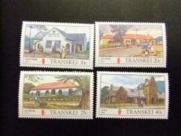 AFRIQUE DU SUD TRANSKEI 1983 Oficinas De Correos En Transkei Yvert Nº 128 / 131 ** MNH - Transkei