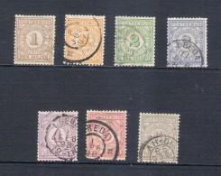 Nederland Postbewijszegels 1 T/m 7 1884, Gestempeld, N° PW 1-7 - Periode 1852-1890 (Willem III)