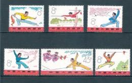 China 1975, Sport Wushu, Postfris, N° 1966-1971, Serie Van 6 Stuks