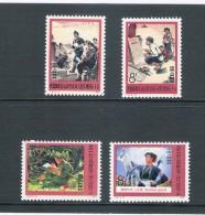 China 1975, Kritiek Op Lin Piao & Confucius, Postfris, N° 1972-1975, Serie Van 4 Stuks