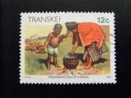 AFRIQUE DU SUD TRANSKEI 1985 Preparando La Comida  Yvert Nº 167 º FU - Transkei