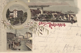 Rorschach - Mondscheinlitho - Stadt, Villaseefeld, Hafen - SG St. Gall