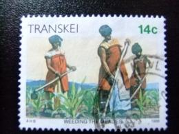 AFRIQUE DU SUD TRANSKEI 1986 Sarclage Des Plantations Yvert Nº 184 º FU - Transkei