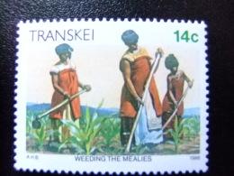 AFRIQUE DU SUD TRANSKEI 1986 Sarclage Des Plantations Yvert Nº 184 ** MNH - Transkei