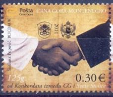 CG 2011-280 125A°KONKORDAT, MONTENEGRO CRNA GORA, 1 X 1v, MNH - Montenegro