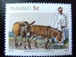 AFRIQUE DU SUD TRANSKEI 1984 Comerciante Con Sus Burros Yvert Nº 146 ** MNH - Transkei