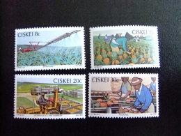 AFRIQUE DU SUD CISKEI 1982 Industria Agricola  Industrie Agricole Yvert Nº 26 / 29 ** MNH - Ciskei