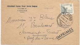LBL37ETR - ESPAGNE LETTRE AU TARIF IMPRIMES TANGER / CLERMONT FERRAND 8/3/1948 - Espagne