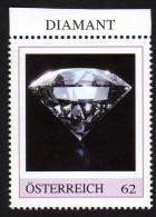 ÖSTERREICH 2015 ** DIAMANT - Edelstein, Mineralien - PM Personalized Stamp MNH - Minéraux