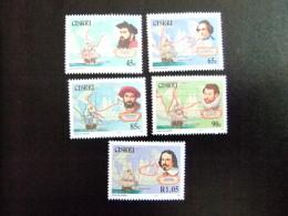 AFRIQUE DU SUD CISKEI 1993 Navegantes Celebres Navigateurs Célèbres Yvert Nº 227 / 231 ** MNH - Ciskei
