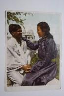 Mongolia.  Friendship Between Mongolia And India  - Old Postcard 1954 - Mongolia