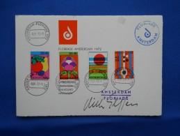 Fdc, Handtekening Ontwerper, Signed By Designer, (invitation Floriade) - Postal History