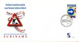 Republiek Suriname - FDC234 - Verkeersbord - Eerste Uitgifte - Z 1055 - Suriname